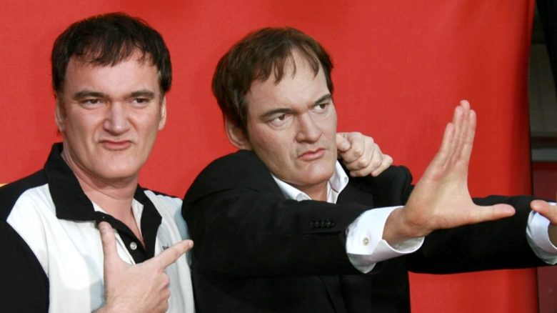 Tarantino con una estatua de cera