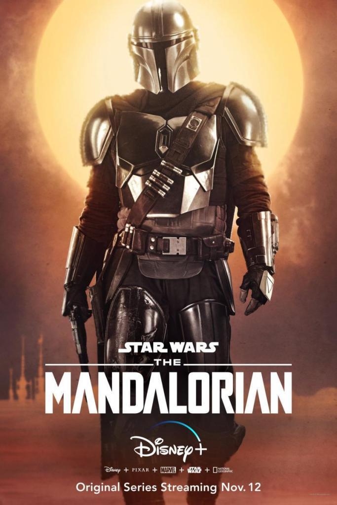 Cartel publicitario The Mandalorian